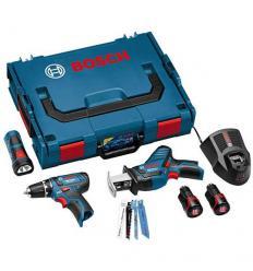 Комплект аккумуляторных инструментов Bosch 10,8V-Li GSR/GSA/GLI (0615990G02)