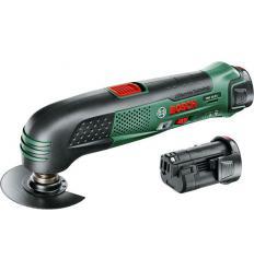 Аккумуляторный многофункциональный инструмент Bosch PMF 10,8 LI с 2 аккумуляторами 2,0 Ач