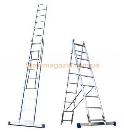 Лестница-стремянка универсальная двухсекционная ITOSS 2x11