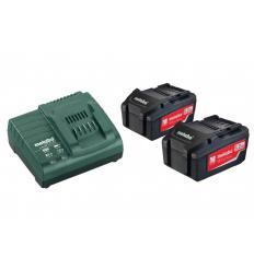 Базовый комплект аккумуляторов Metabo Basic-Set 2x5,2 Ач