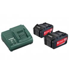 Базовый комплект аккумуляторов Metabo Basic-Set 2x4,0 Ач
