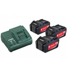Базовый комплект аккумуляторов Metabo Basic-Set 3x5,2 Ач
